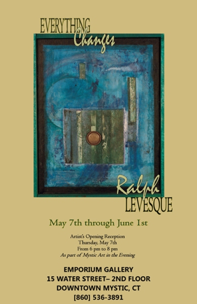 Promotional poster for Ralph Levesque Exhibition