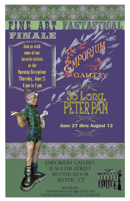 Poster for art exhibition at Emporium Gallery in Mystic CT